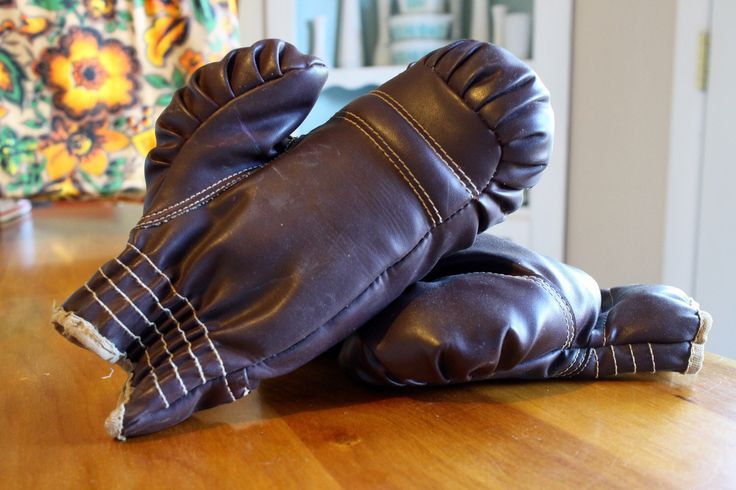 A personal favorite from my Etsy shop https://www.etsy.com/listing/495207740/pair-of-vintage-youth-boxing-gloves