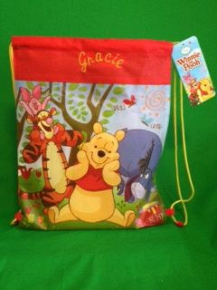 Winnie the Pooh and Friends Personalized Beach Sling Bag Back-sack tote