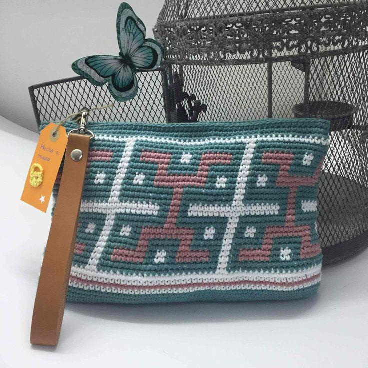 Bolsos a Crochet DIY estilo azteca.