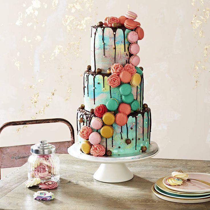 bespoke macaroon wedding cake by anges de sucre | notonthehighstreet.com #macaroonweddingcake #macaroons #partycake