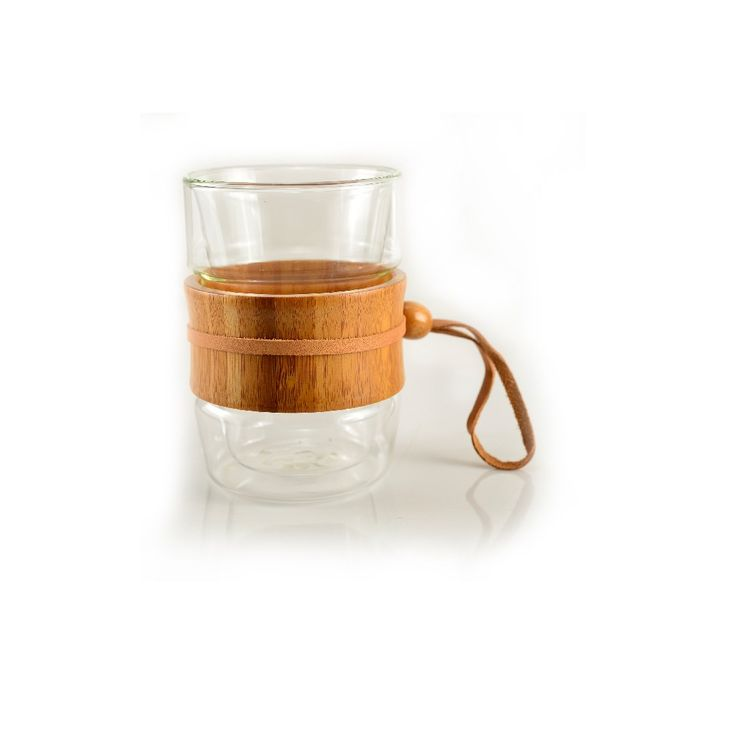 Double Wall Cup With Leather String | Tea Drop
