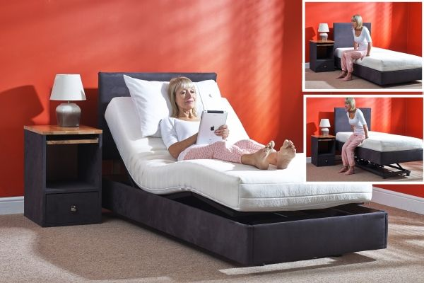 Helston Dual Adjustable Bed In 2019 Adjustable Beds Bed Bed Sizes