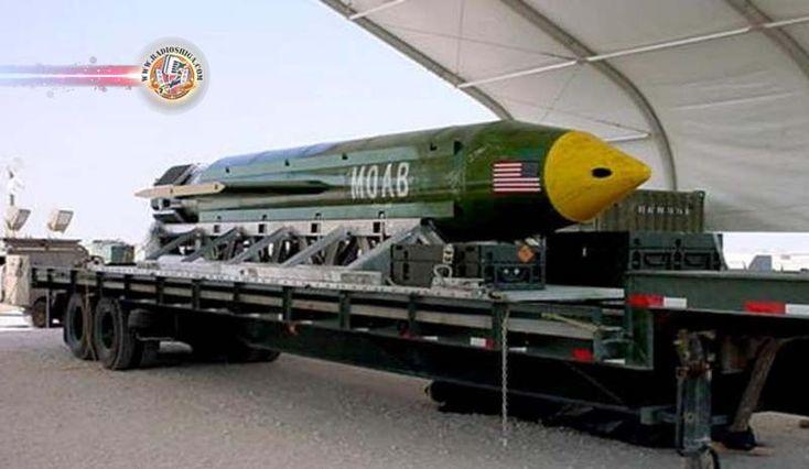 EUA lançam a mais potente bomba não nuclear em base do Estado Islâmico, no Afeganistão. O Pentágano confirmou nesta quinta-feira (13) ter lançado sobre inst