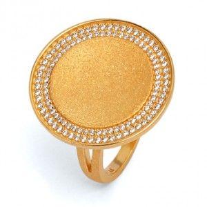 Victoria - Ring in Silber mit meiner Goldplattierung in Premium Qualität. Der Ring aus der Designlinie Concave wirft unvergleichbar schöne Reflexe! #BerndWolf #Concave #Schmuck #Ring #Goldplattiert #LieblingsSchmuck