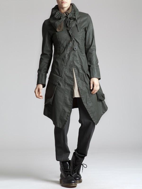 Resin Cotton Lycra Coat by LURDES BERGADA