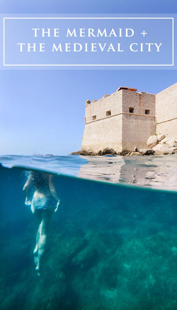 The Mermaid + The Medieval City... Underwater photography adventures in the Adriatic Sea!