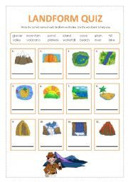 english worksheet landform quiz interesting pinterest english quizes and worksheets. Black Bedroom Furniture Sets. Home Design Ideas