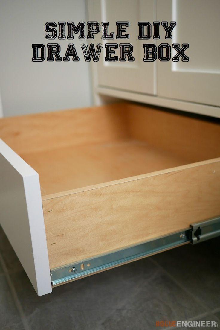 20 Diy Furniture Vanity How To Build A Simple Drawer Box Rogue Engineer How To Build A Simple Drawer Box In 2020 Diy Drawers Diy Furniture Bedroom Diy Cabinets