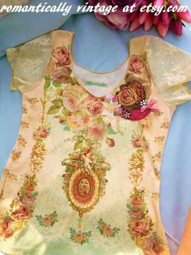 Hey, I found this really awesome Etsy listing at https://www.etsy.com/listing/234659110/designer-upcycled-top-michal-negrin-for