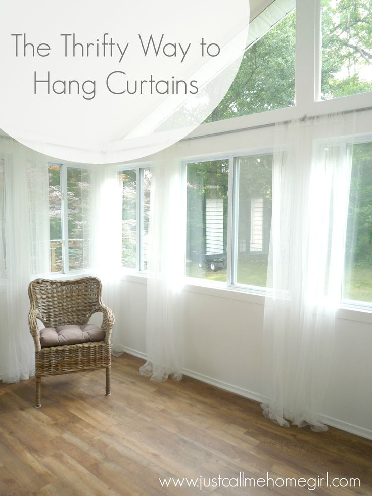 How to hang curtains for the least amount of money!
