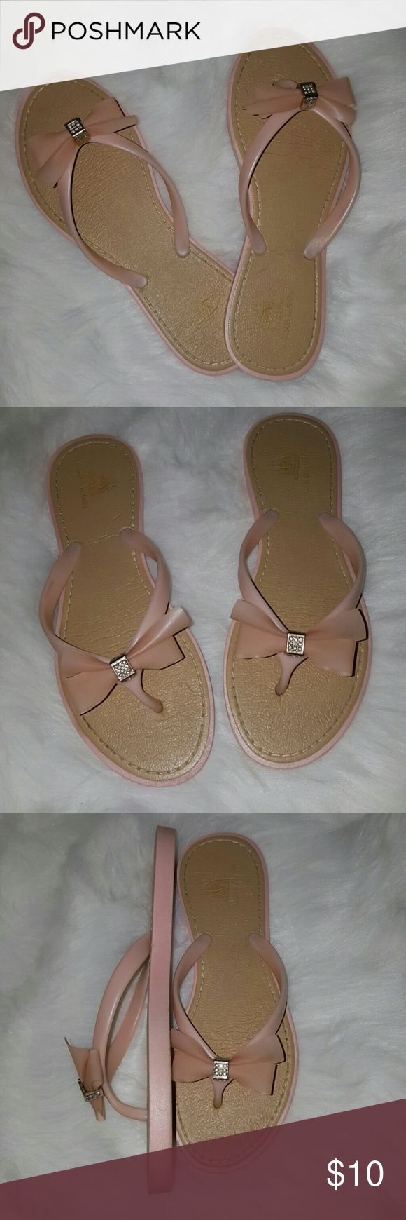 Light Pink/Blush Flip Flops Only worn a handful of times. Thick and cushiony. They are a very light opaque pink or nude blush color.  Please see pics as part of description. I ship within 1 business day of payment receipt. Shoes Sandals