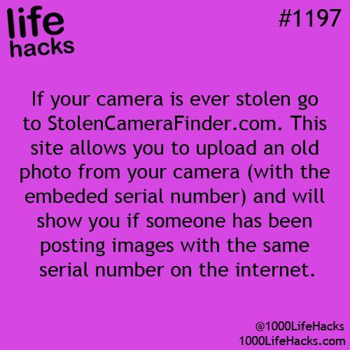 stolen or lost camera finder