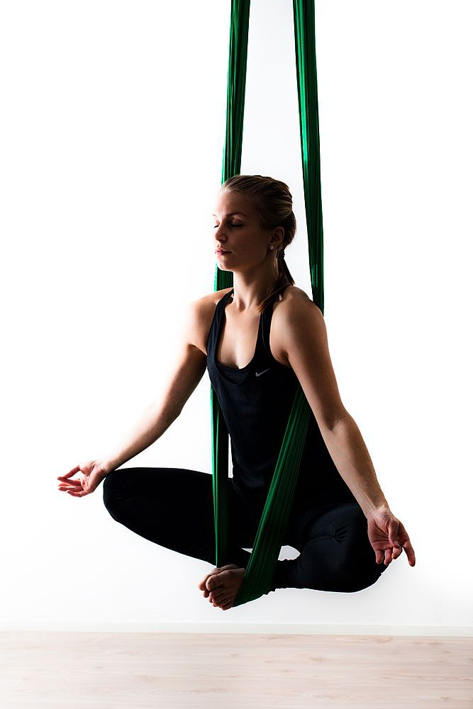 Did this pose last night at Nufit's aerial yoga. I know it looks pretty simple, but it was scary the first few times.