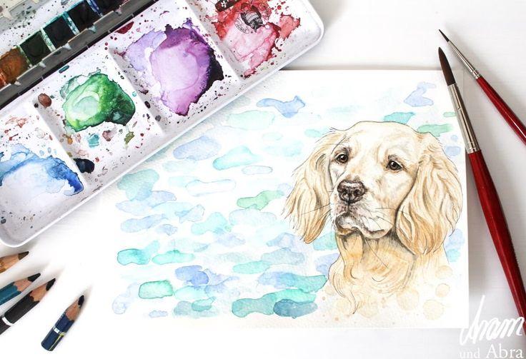 die besten 25 hund malen ideen auf pinterest hund. Black Bedroom Furniture Sets. Home Design Ideas