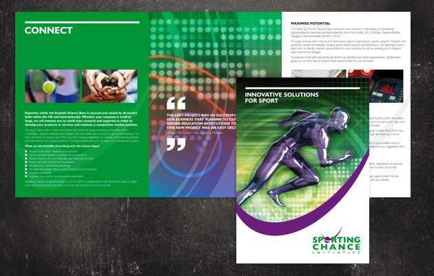 Complete set of marketing material for national sports development organisation Sporting Chance Initiative