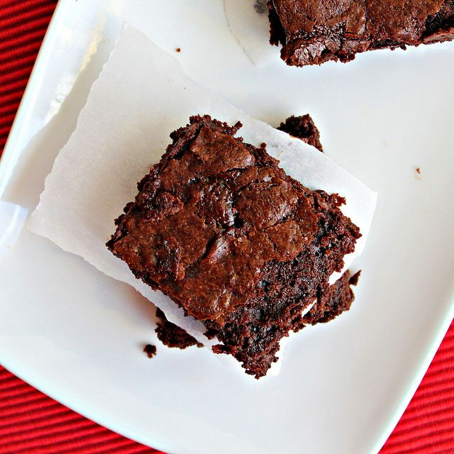Sweet and salty brownies. Have learned how good sweet+salt is!
