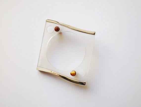 E. Salwierz Design-Plexiglass Baltic Amber by APPUSSTUDIOJEWELLERY