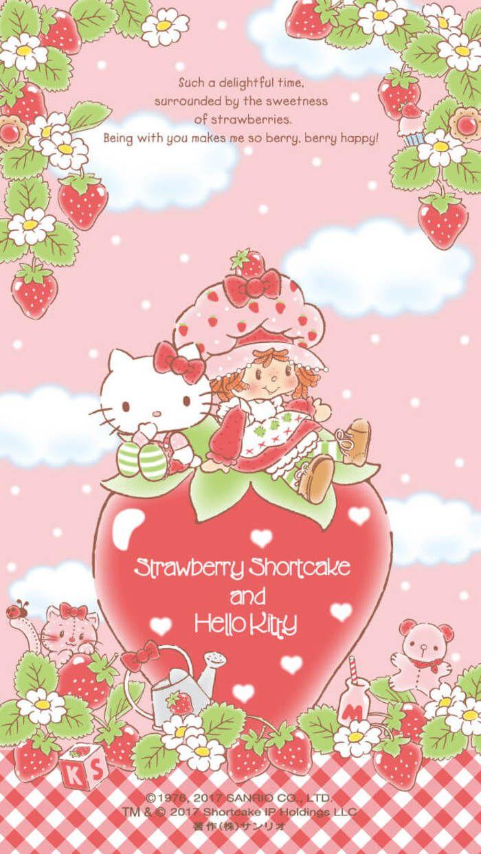 Hello Kitty and Strawberry Shortcake