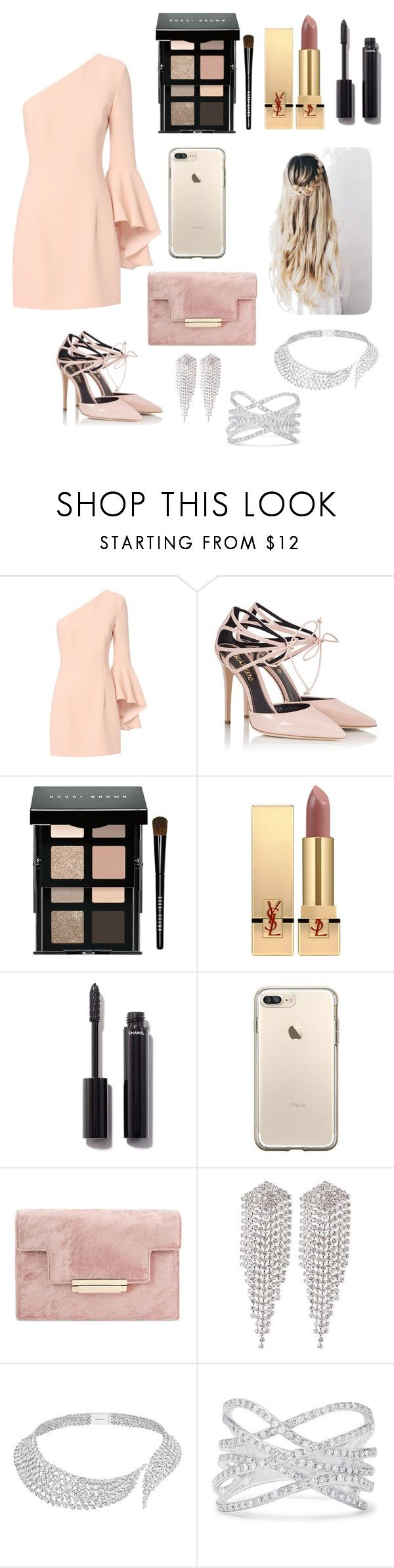 """""""DIAMONDS"""" by simone89 ❤ liked on Polyvore featuring Exclusive for Intermix, Fratelli Karida, Bobbi Brown Cosmetics, Yves Saint Laurent, Chanel, sweet deluxe, Messika and Effy Jewelry"""
