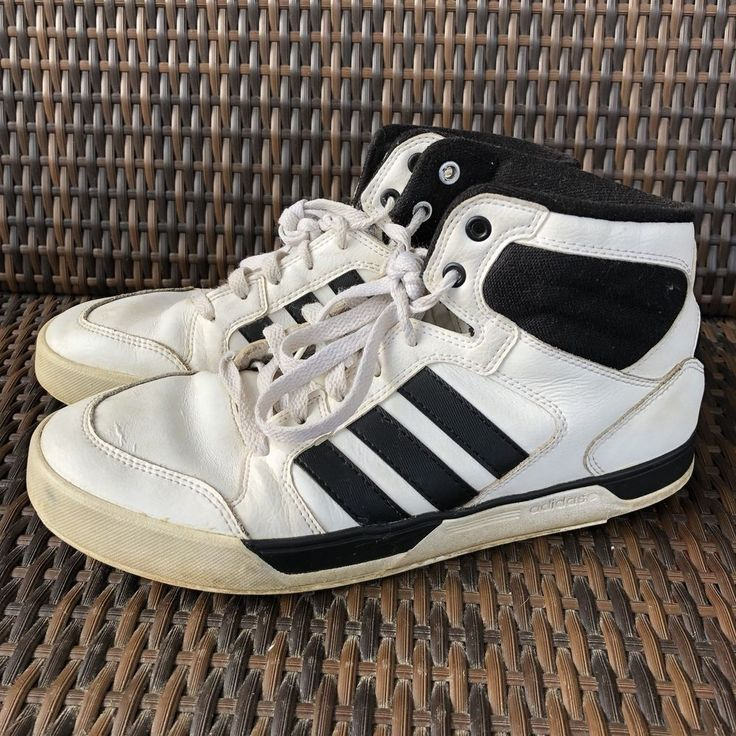 Adidas NEO 8 Mens Basketball Shoes White High Top Sneakers Preowned  | eBay