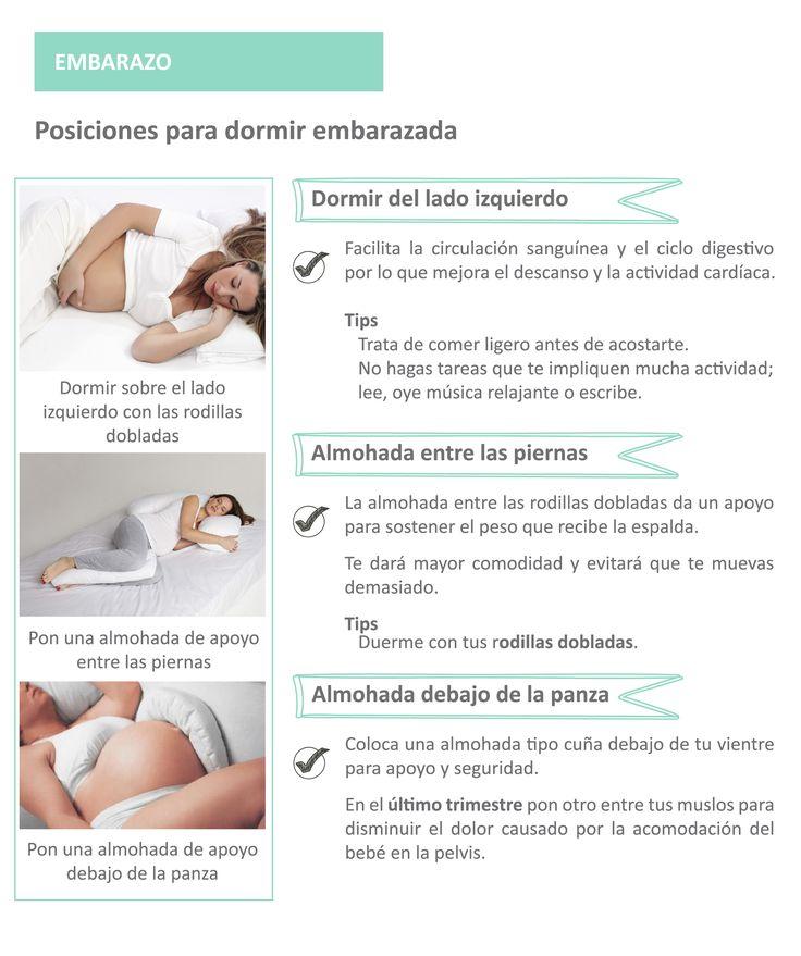 Posiciones para dormir cuando estás en embarazo