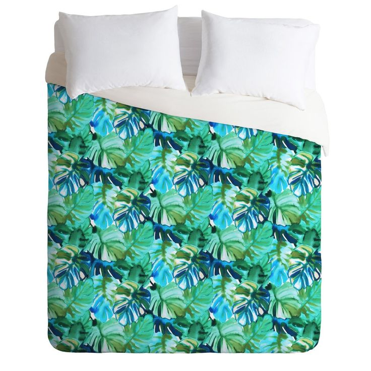 Amy Sia Welcome to the Jungle Palm Green Duvet Cover | DENY Designs Home Accessories