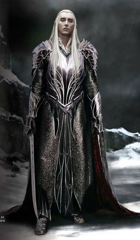 """Thranduil in armor from """"The Hobbit: Battle of the Five Armies"""" (2014). i think it's the most magestic character in the movie."""