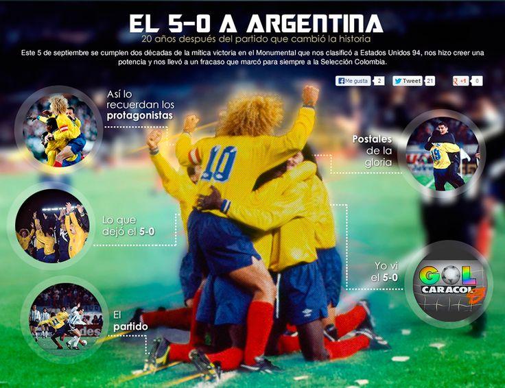 #Recomendado El 5-0, 20 años después. Gran especial de Gol Caracol El partido que cambió la historia. #20añosCincoCero   Véalo aquí: http://www.golcaracol.com/especial50