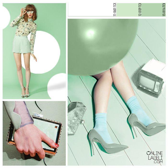 Colorful, sugary and sassy; Apple Bonbon on onlinelaleli.com. #moda #fashion #design #textile #inspiration