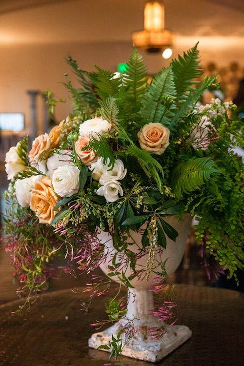 Awesome florals from Art with Nature at the Cream event with Found Vintage Rentals