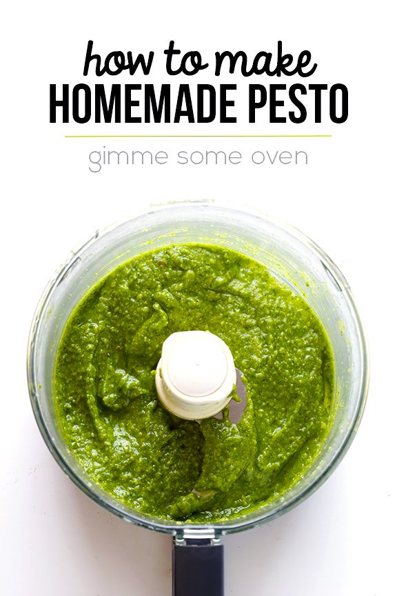 How To Make Pesto -- fresh homemade pesto is so easy to make…