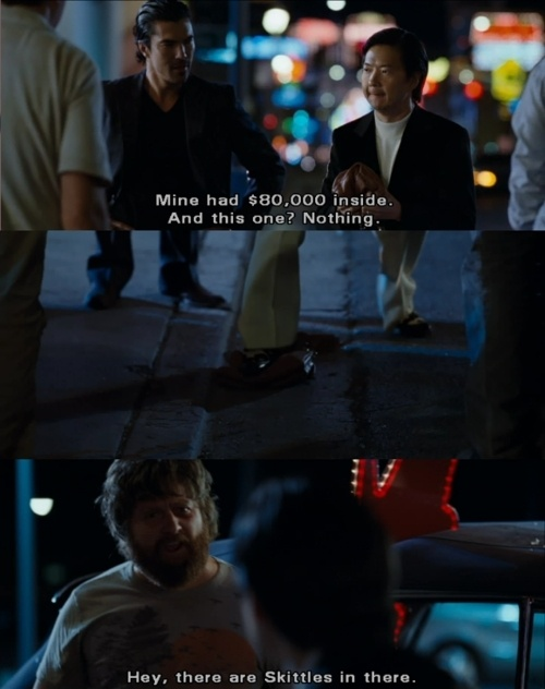 The Hangover - Alan's skittles.