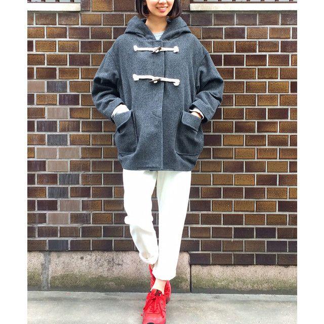 MINSSPAI - Cocoon Duffle Coat (grey) / ミンスパイ・ダッフルコート
