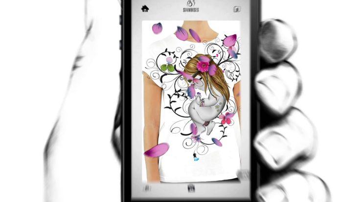 """La #app """"siamoises"""" per giocare con la realtà aumentata sulle nostre #tshirt! La trovi su iOS & Android! Guarda il video! http://bit.ly/PcrlOc"""