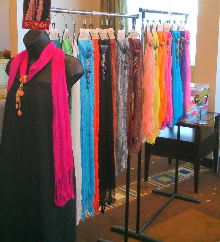 10 best images about hand dyed scarf display on pinterest for Hat display ideas for craft shows