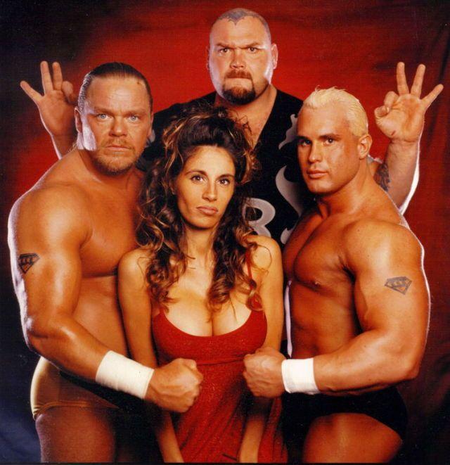 The Triple Threat [ Bam Bam Bigalow - Shane Douglas - Chris Candido ] with Francine