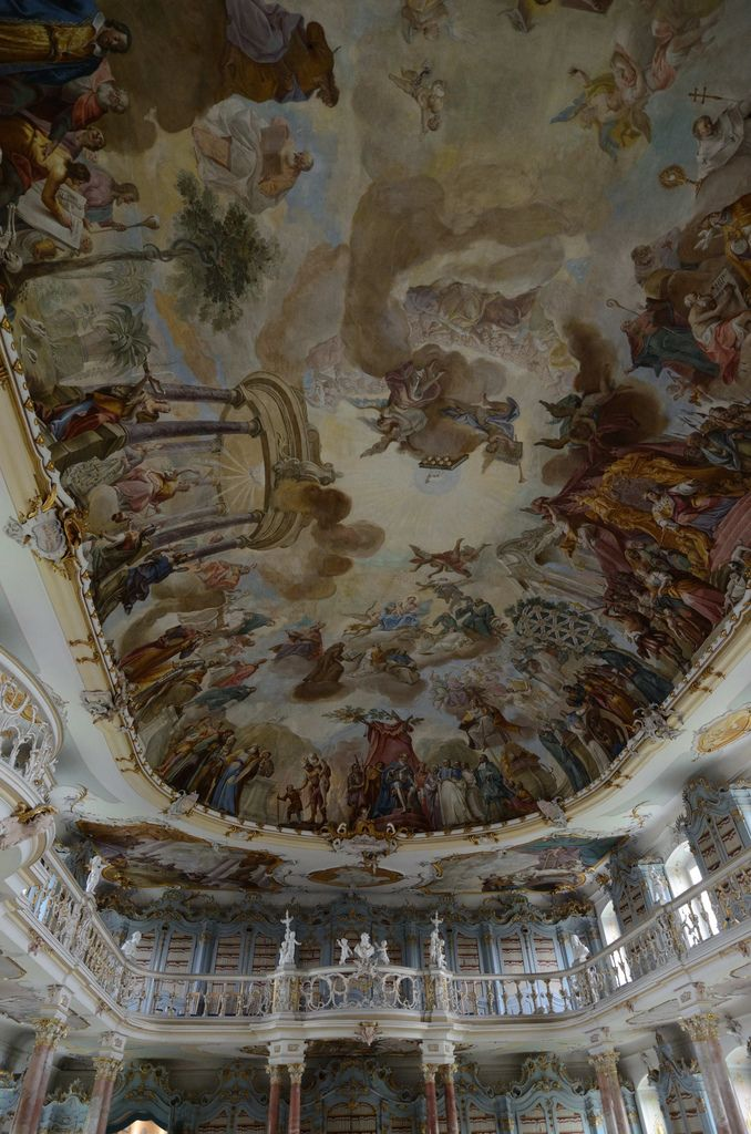 Astonishing 18th c Library, Bad Schussenried, Baden-Württemberg