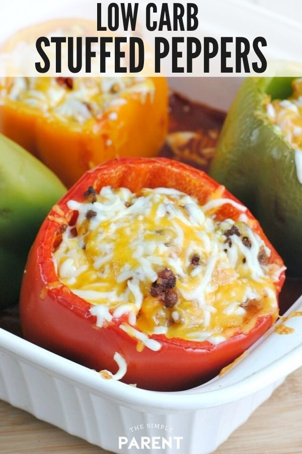 Low Carb Stuffed Peppers Without Rice Make Healthy Easy In 2020 Stuffed Peppers Low Carb Stuffed Peppers Ground Pork Recipes