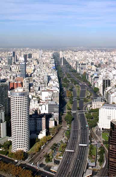 Avenida 9 de Julio, city gate Buenos Aires Argentina