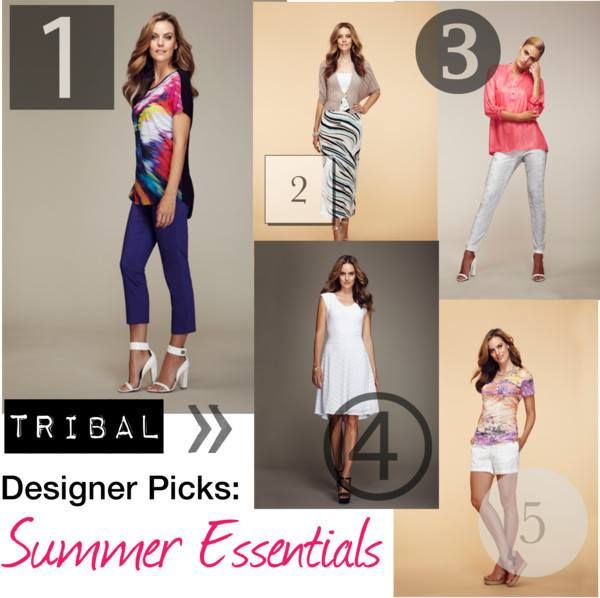 We asked our head TRIBAL designer for her essential summer items. Here are her picks, and why she chose each item! #tipsandtrends #summerstyle #fashion #tribalsportswear #designerpicks