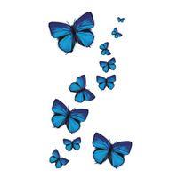 Wyuen NEW Hot Design Temporary Tattoo for Adult Waterproof Tatoo Sticker Body Art Blue Butterfly A-049 Fake Tattoo Man Woman