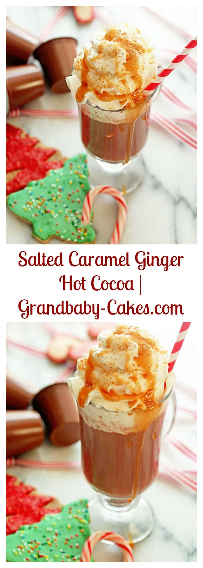 Salted Caramel Ginger Hot Cocoa | Grandbaby-Cakes.com