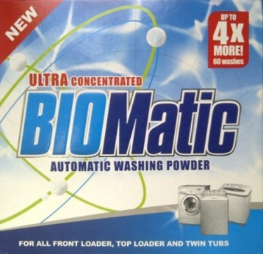 BIOMatic is a fantastic product that is the Ethical Choice - Gives you 4 X More washes and cleans the scum from your washing machine and saves you money and the environment