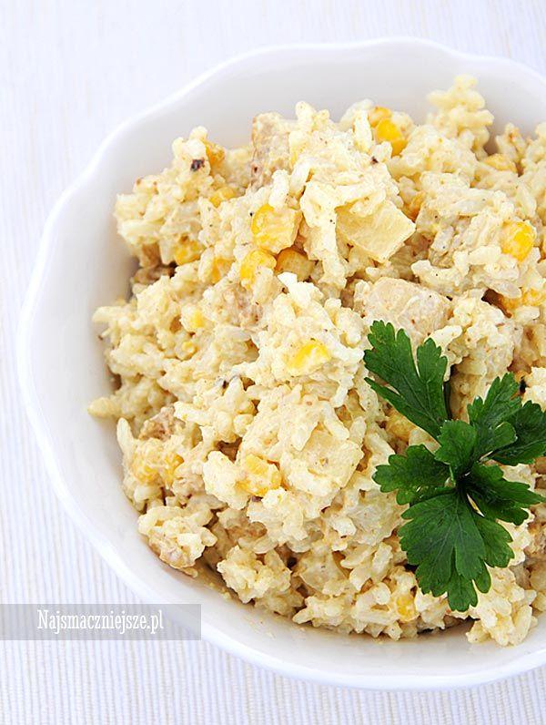 Sałatka z ryżem curry