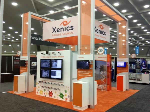 XENICS 20x20 Custom Rental Exhibit - Defense, Security, + Sensing 2013 Show Booth #1631