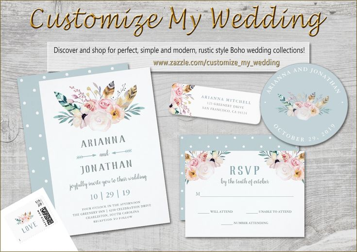 Gorgeous, modern Boho Rustic Wedding Collection!