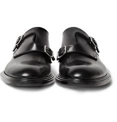 Givenchy - Polished-Leather Monk-Strap Shoes