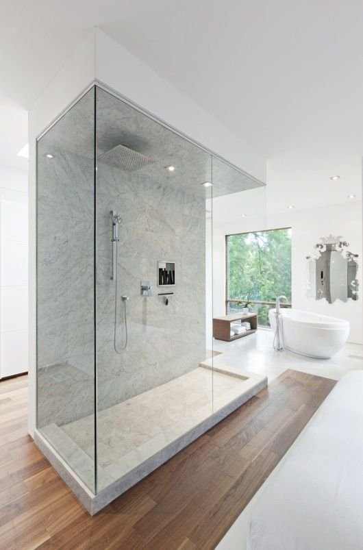 Interior Ultra modern bathroom idea. This is beautiful. Would need a very large bathroom to make this work though.