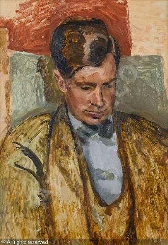 Portrait of David Garnett by Duncan Grant, 1930. Garnett married Angelica Bell in 1942, the daughter of Grant and Vanessa Bell. Despite their consternation about the relationship, Angelica's parents did not inform their daughter that Garnett had been Duncan Grant's lover during the First Word War.
