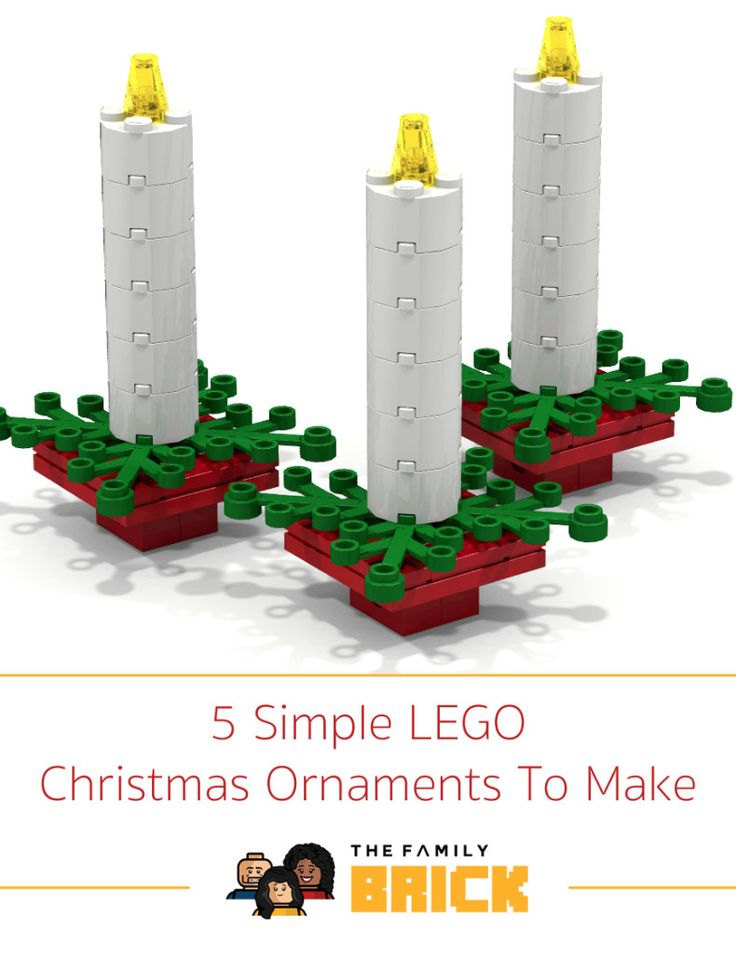 5 Simple LEGO Christmas Ornaments To Make